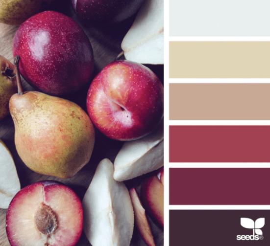 Combinaciones de colores de otoño: Frutos