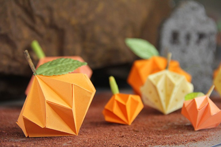 calabazas de origami