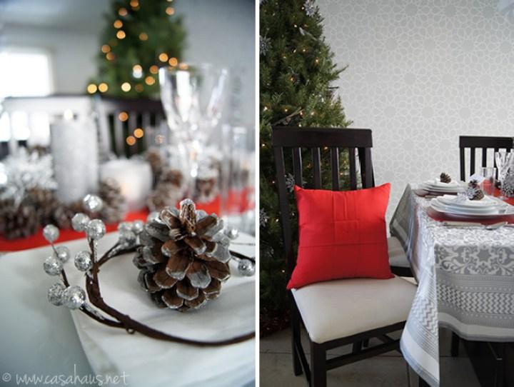 Mesa de Navidad alegre y sofisticada