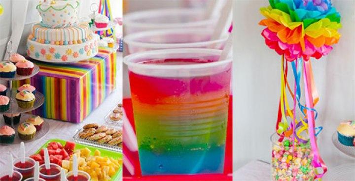 decoracion fiestas de arcoiris