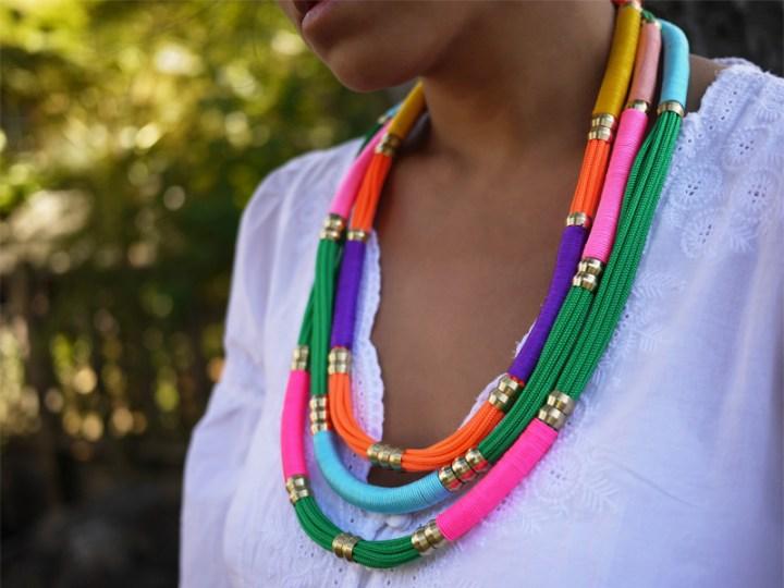 pulsera cuerda de colores