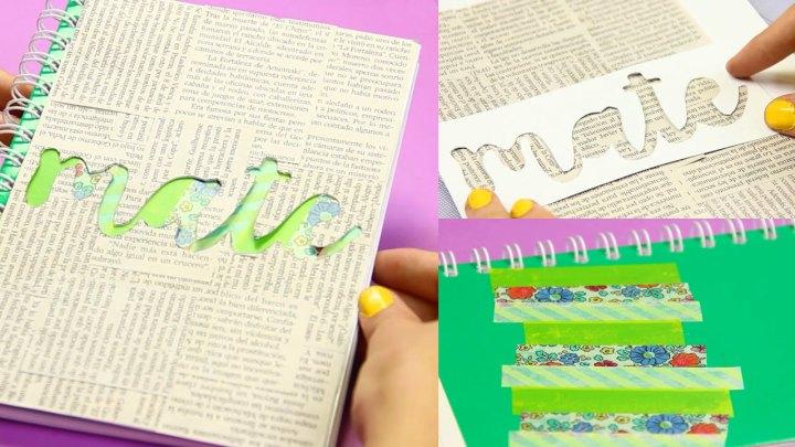 decoracion-periodico-stencil-cuaderno