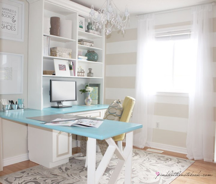 home office pinklittle book