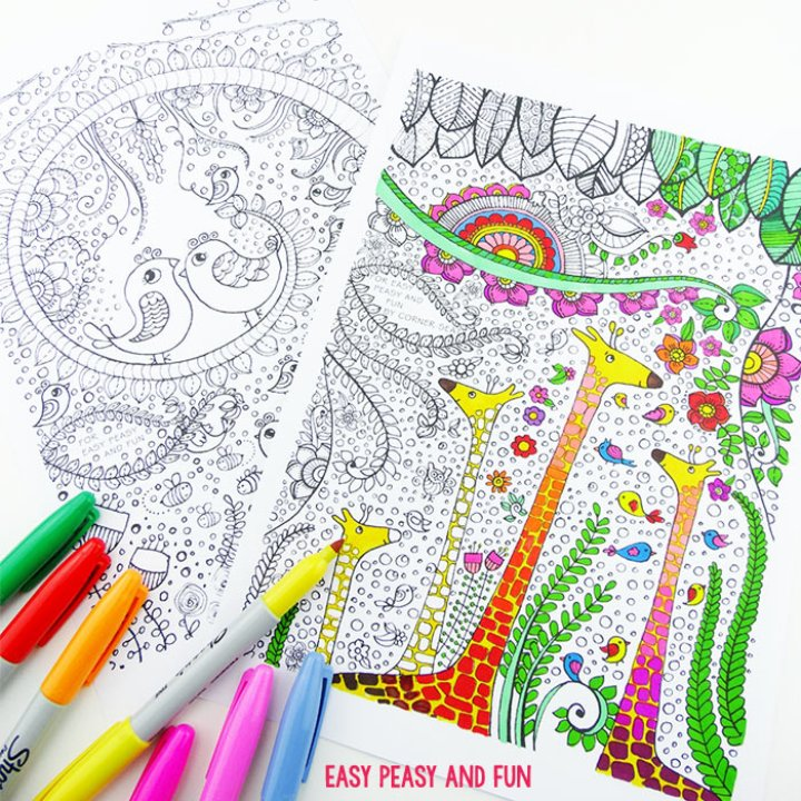 giraffes-and-birds-coloring-pages-for-adults