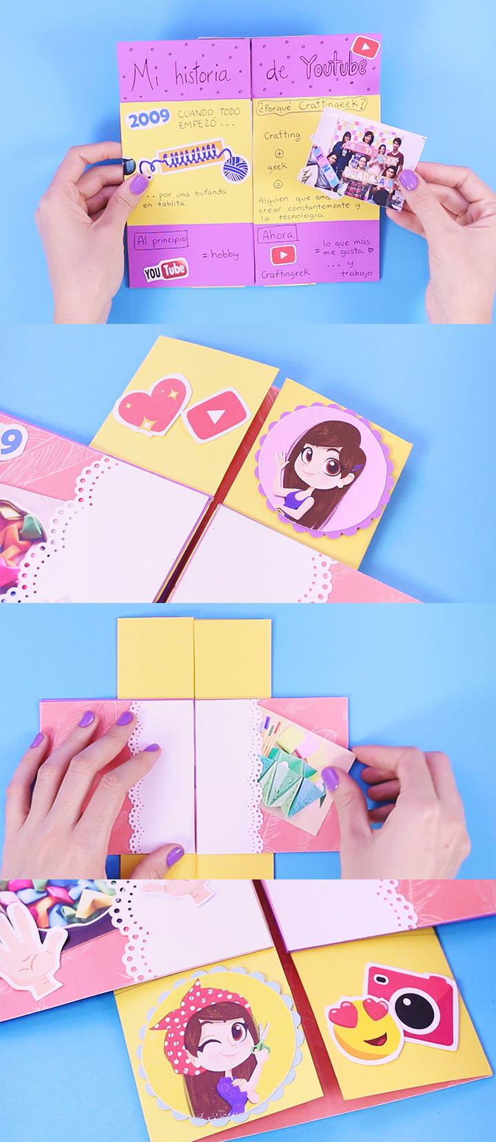 como hacer una tarjeta magica interminable paso a paso para dar un regalo único