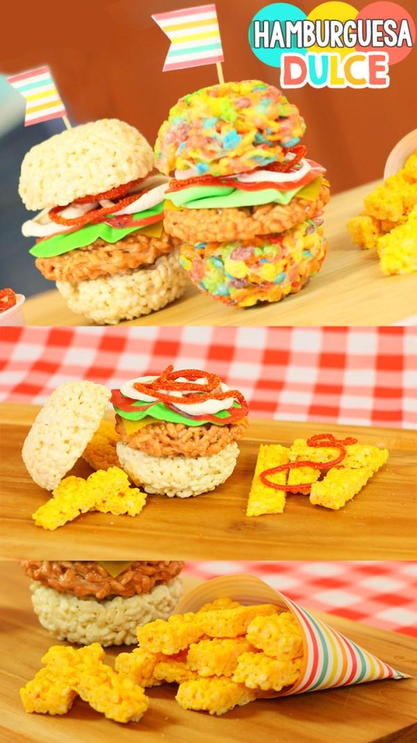 Hamburguesas dulces de colores: Postre fácil | Sweet Hamburgers: Easy dessert