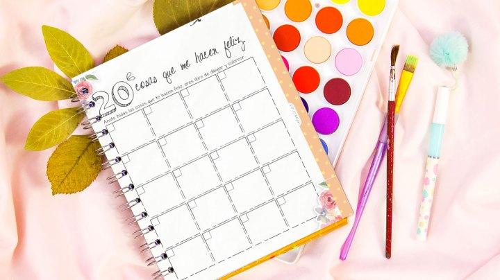 cosas que me hacen feliz crafty planner 2018