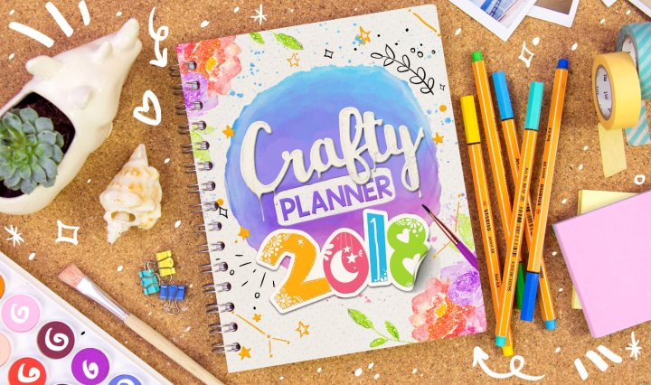 Crafty planner 2018 craftingeek