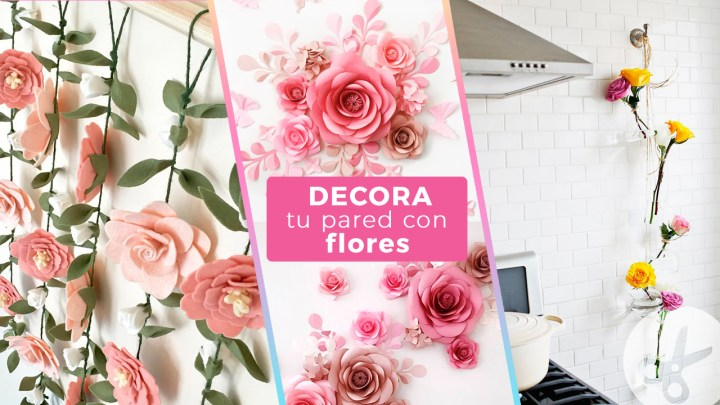ideas para decorar tu pared con flores