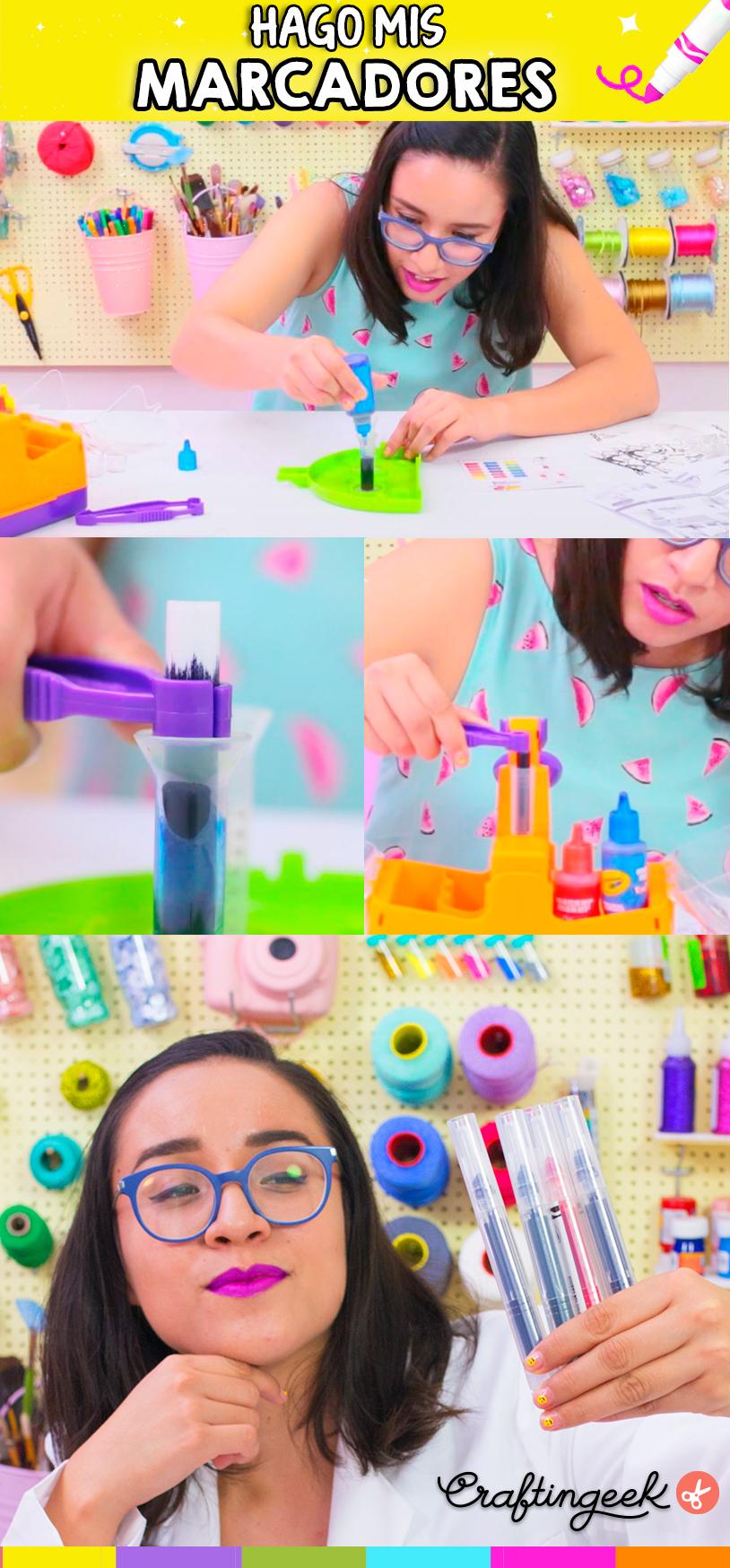Tu propia Fábrica de marcadores ¡Crea tus propios colores!