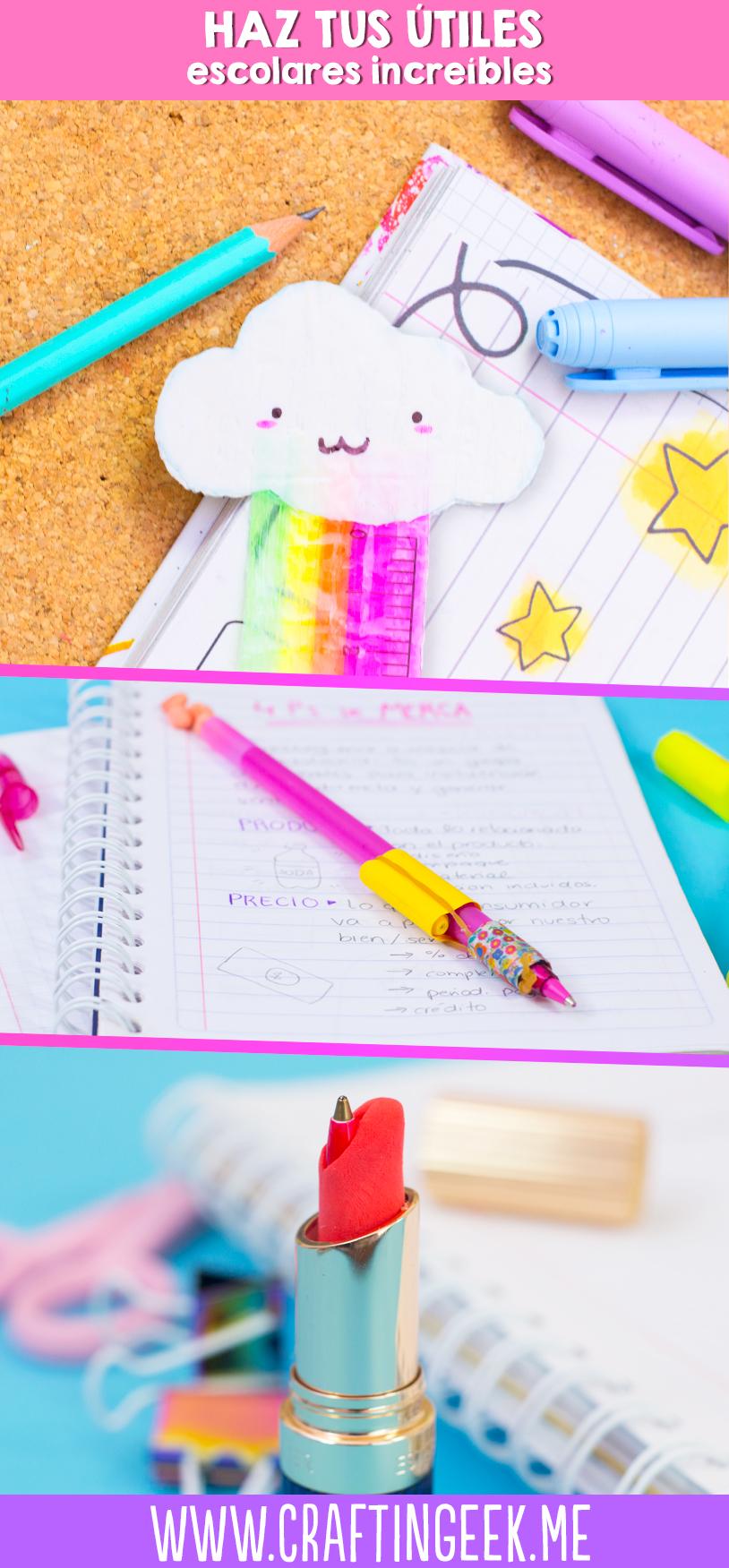 Haz tus propios utiles escolares kawaii! DIY School supplies