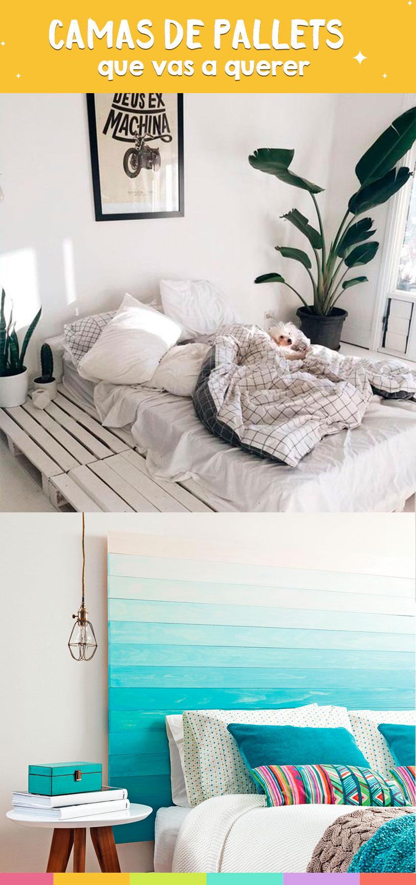 Cama de palets que vas a querer tener en tu cuarto