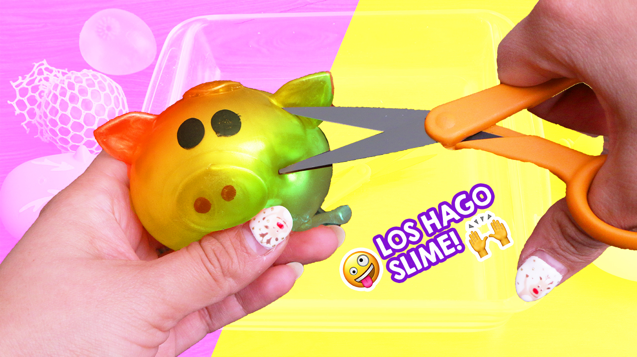 Cortando squishies rellenos para hacer slime |  Cutting stuffed squishies to make slime