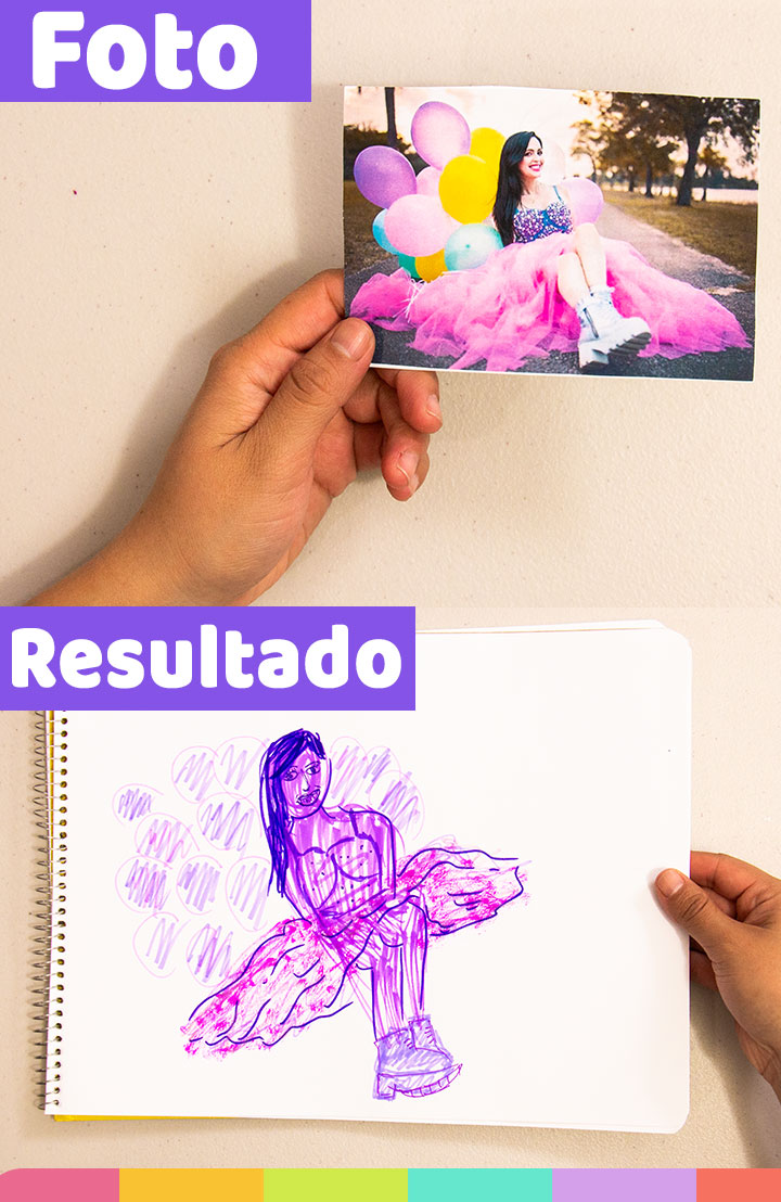 Decidí utilizar marcadores morados para dibujar a Sandra Cires Art ¡Así me quedo! | I decided to use purple markers to draw Sandra Cires Art. And this is the result!