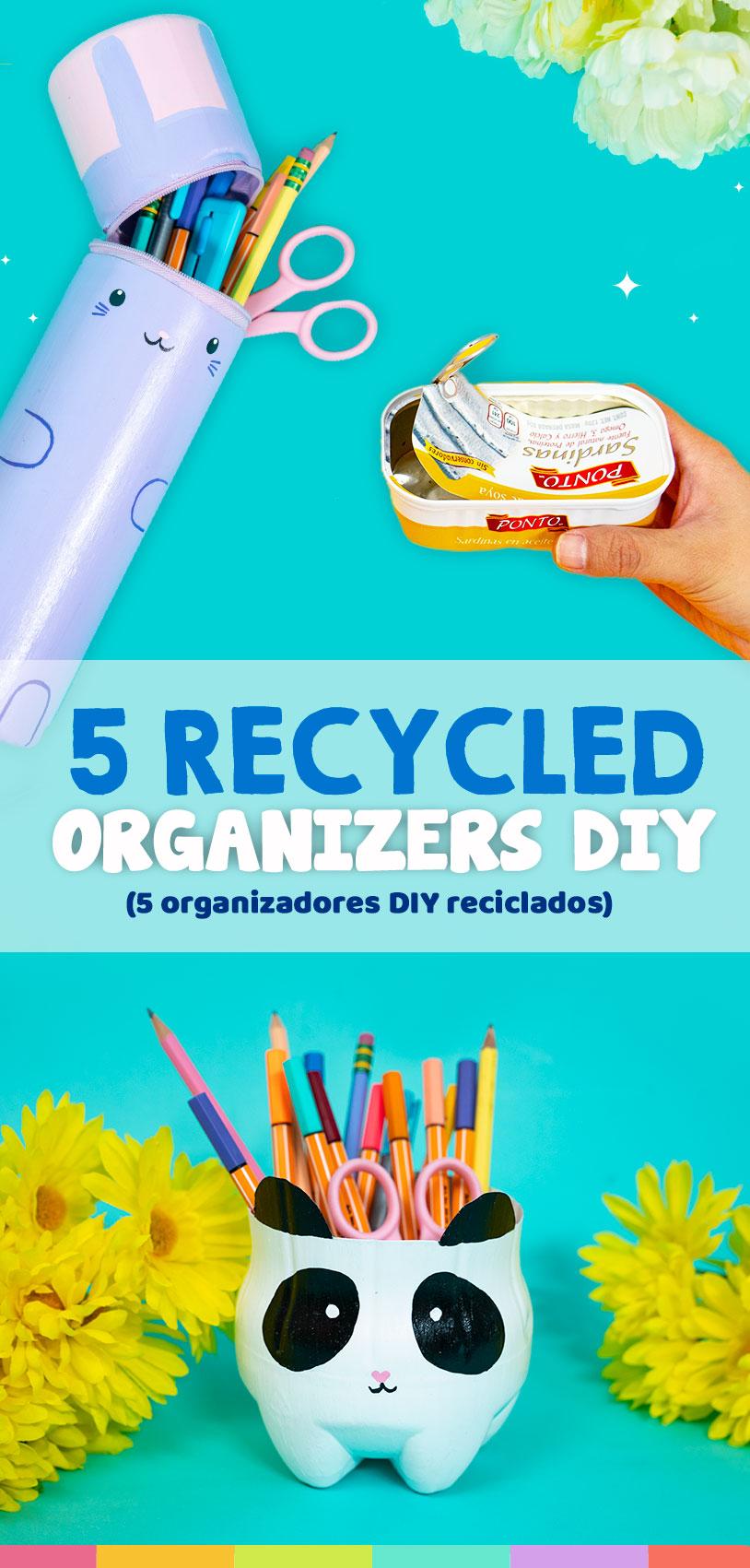 organizadores de escritorio reciclados que puedes hacer en casa