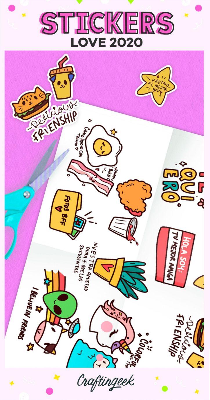 Stickers para imprimir Friends 2020