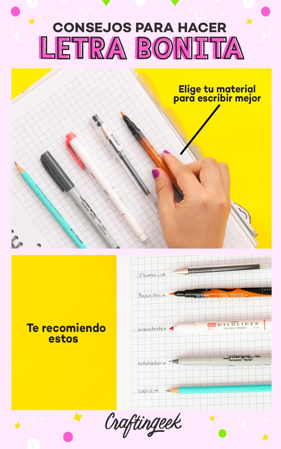 Consejos para mejorar tu letra: Elige los mejores materiales