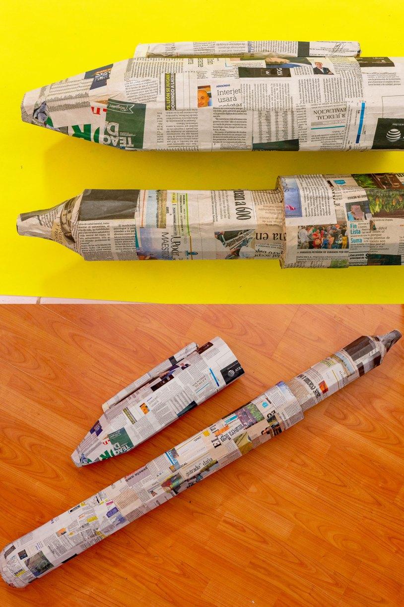 Como hacer un marcador gigante_Periodico