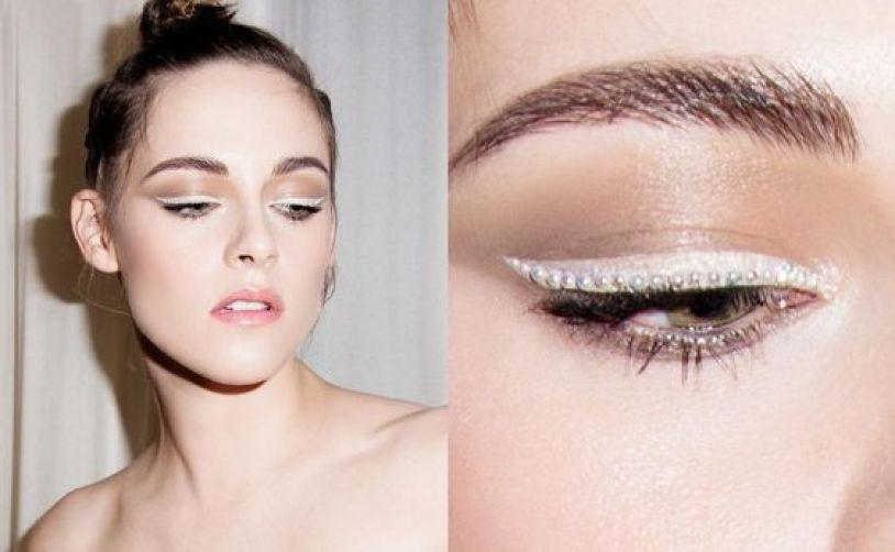 Delineados de ojos con perlas