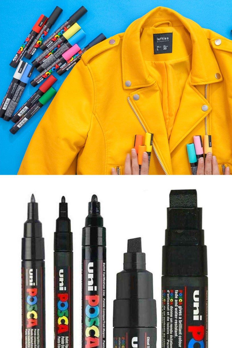 Como personalizar una chaqueta_Posca