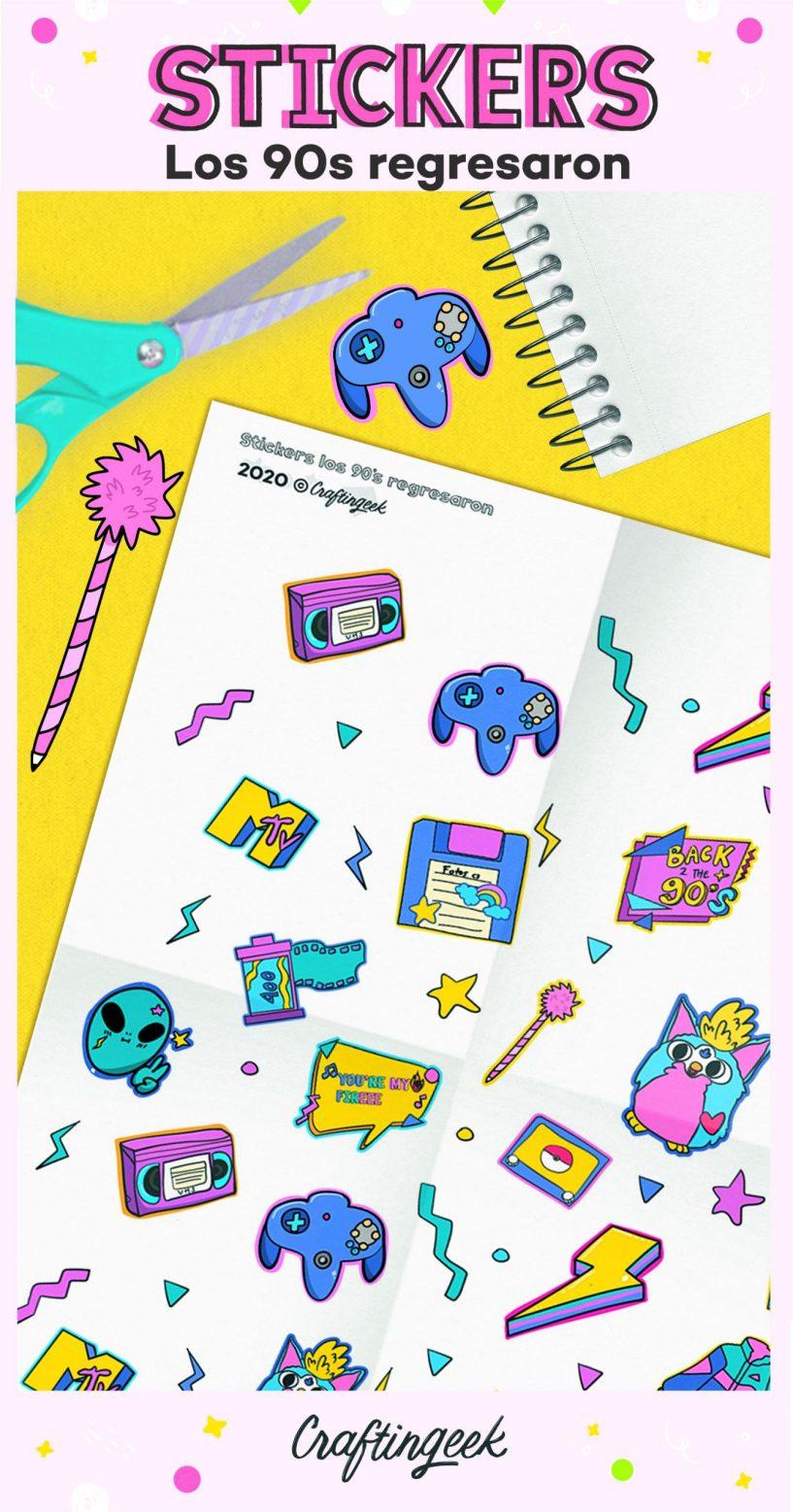 Stickers de los 90s_Portada