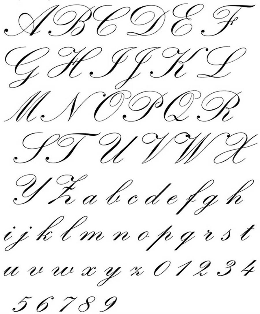 2) Calca otros tipos de letra
