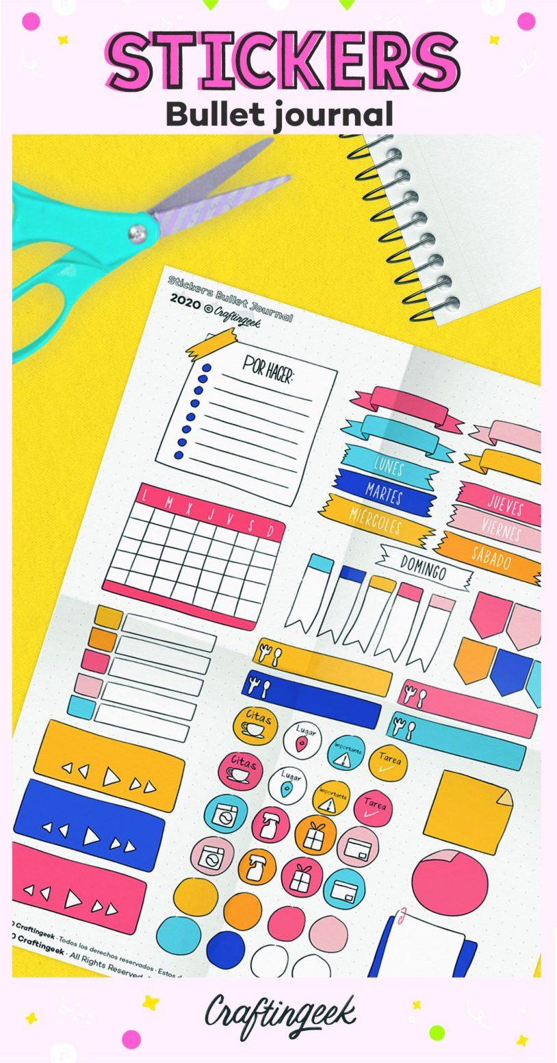 Stickers para bullet journal_Portada