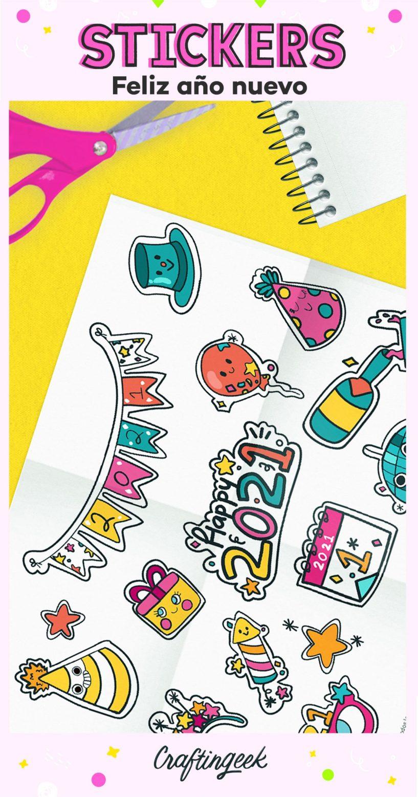 Stickers de año nuevo 2021_Portada