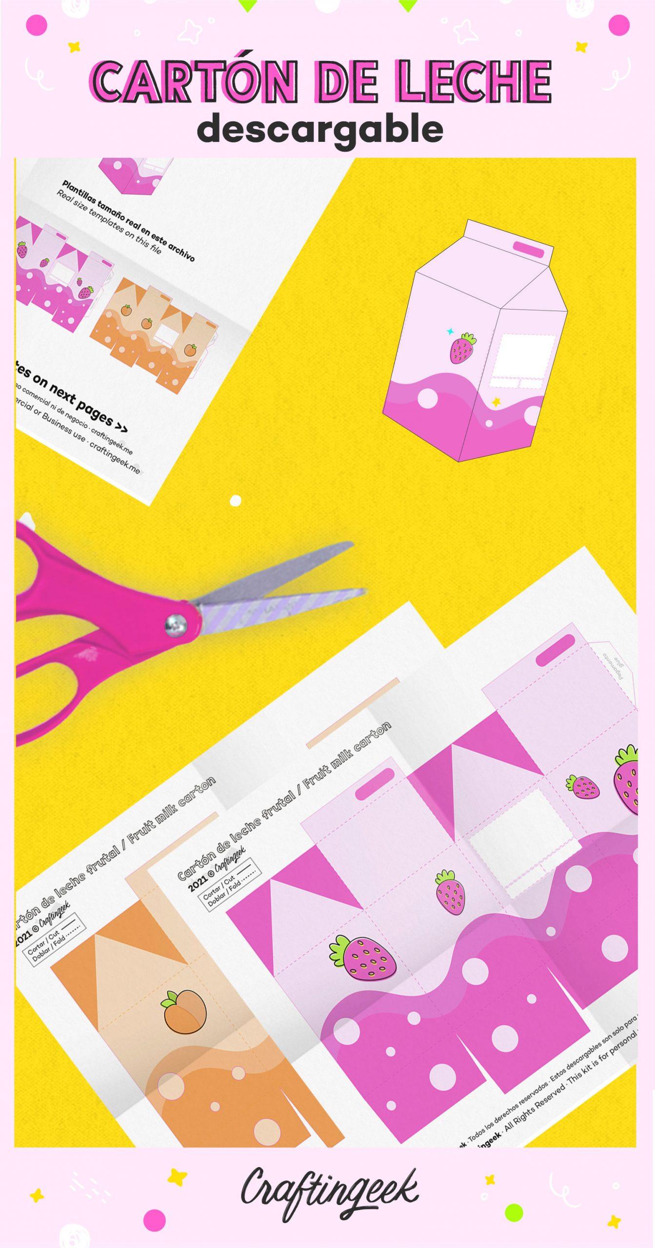 Caja sorpresa de cumpleaños kawaii perfecta para regalarsela a tu mejor amigo o amiga. Dale clic para ir al descargable.