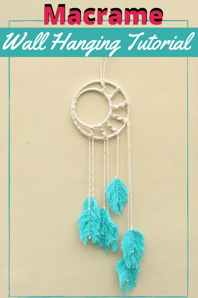 Macrame Dream Catcher Wall Hanging Tutorial Crafting On The Fly