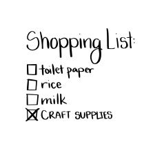 funny shopping list