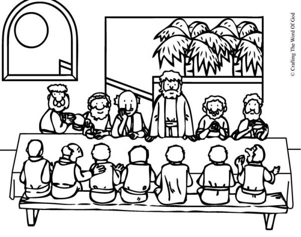 the last supper coloring page # 7