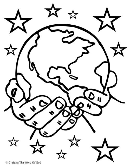 Second Day of Creation coloring page   Free Printable Coloring Pages   630x500