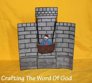 Paul Lowered In A Basket Crafting The Word Of God