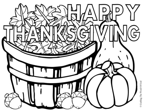 thanksgiving coloring pages # 9