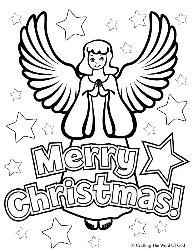 christmas prayer colouring pages