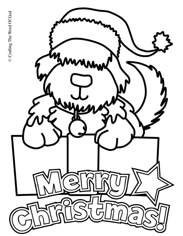 christmas coloring page crafting the word of god