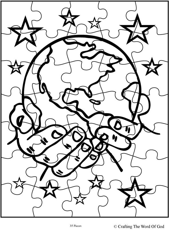 god the creator puzzle activity sheet