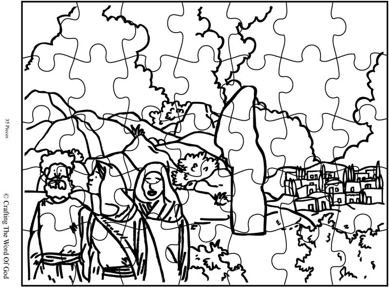 Lots Wife Puzzle Activity Sheet Crafting The Word Of God