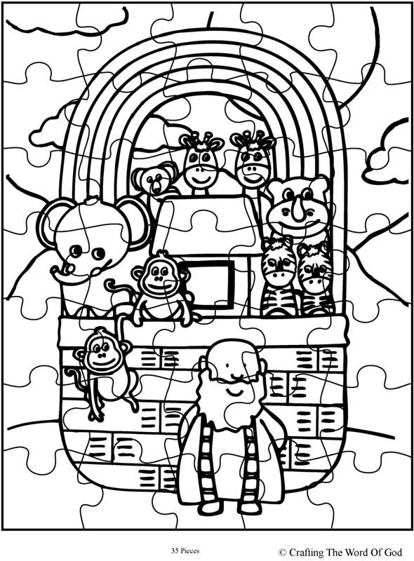 Noahs Ark Puzzle Activity Sheet Crafting The Word Of God