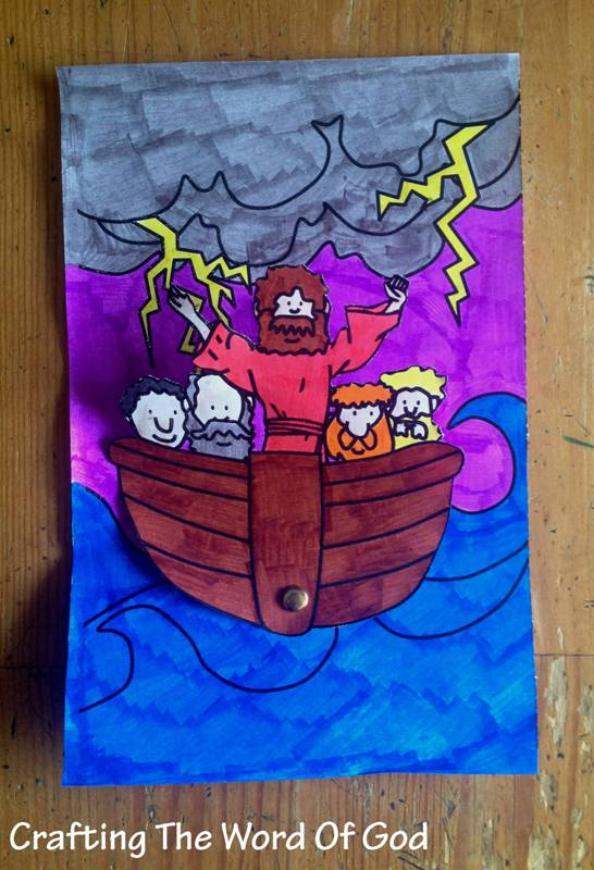 Jesus Calms The Storm Rocker Crafting The Word Of God