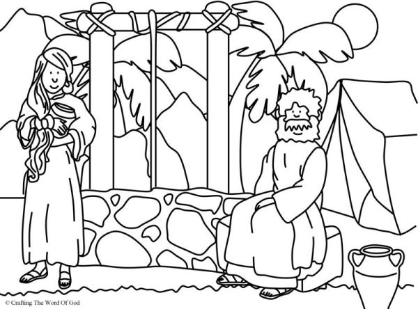 woman at the well coloring page # 7