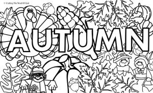Autumn Coloring Page 1 Coloring Page Crafting The Word