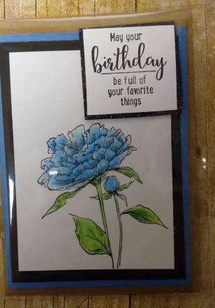 A lovely blue rose