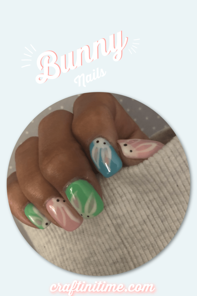 Easter Bunny Nails www.craftinitime.com
