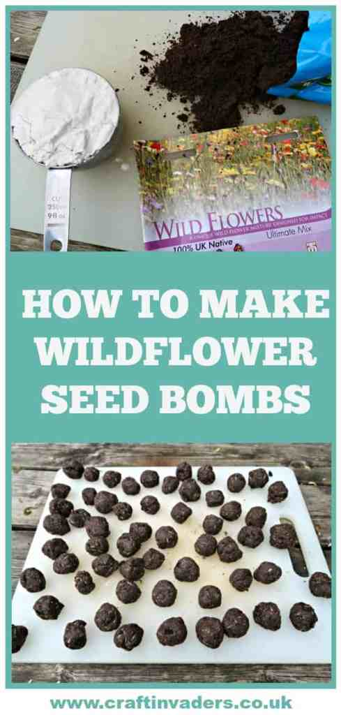 We make Wildflower seed bombs using household flour, seed compost and native wildflower seeds. They are perfect for brightening up an unloved corner of your neighbourhood.