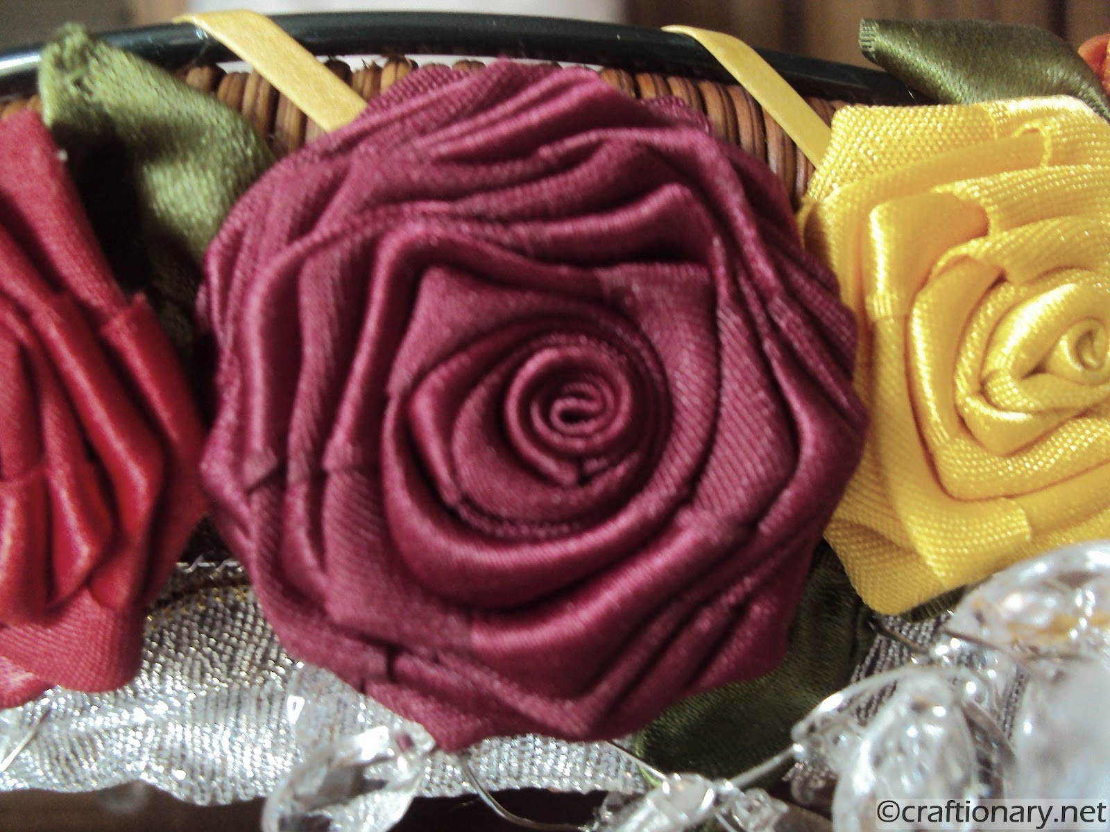 Craftionary Ribbon Flowers