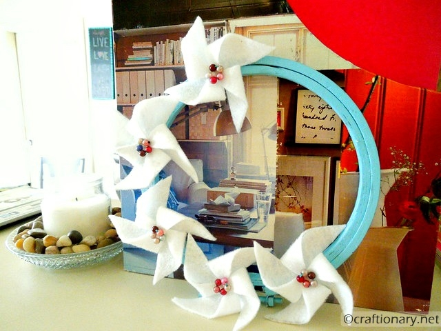 make felt pinwheels