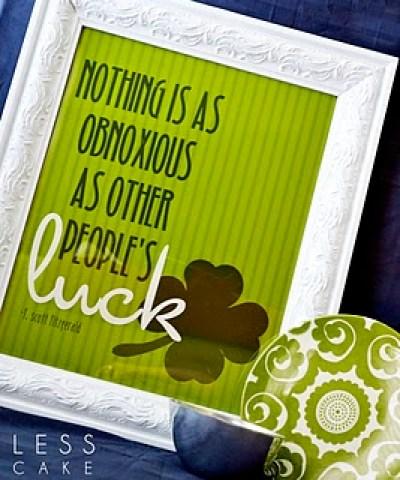 lucky irish print