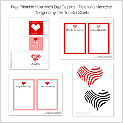 It's just an image of Printable Valentine Tags in happy